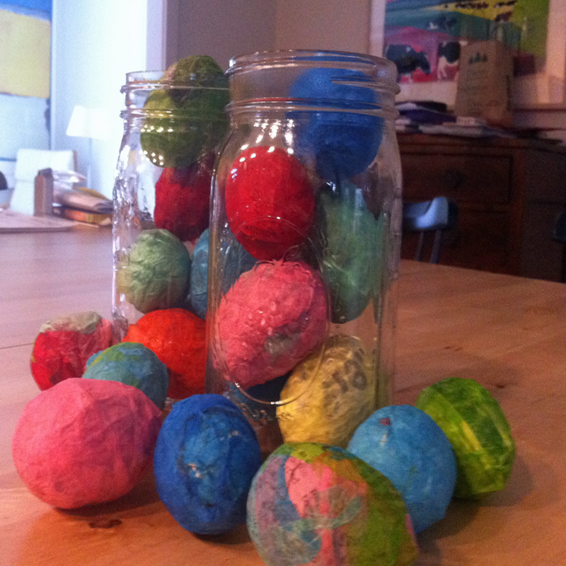 Paper-mache-easter-eggs